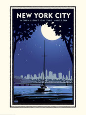 New York City Moonlight Wallpaper Mural