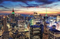 New York City Night Wallpaper Mural