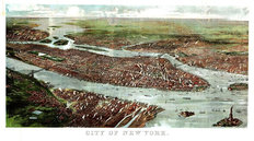 New York City, NY 1897 Map Wall Mural