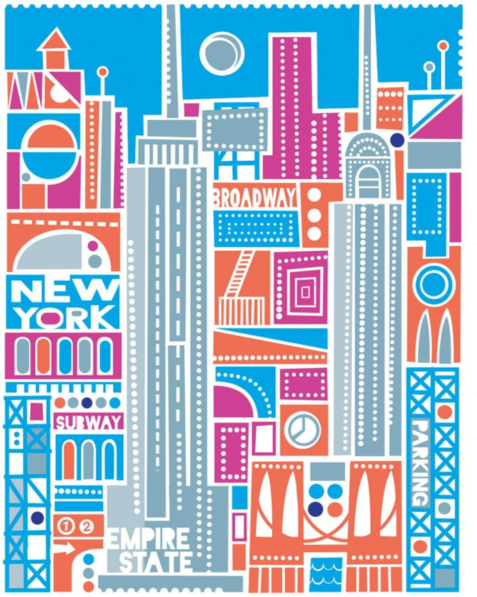 New York City - Silver Mural Wallpaper