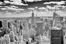 New York Skyline Over Manhattan Wall Mural