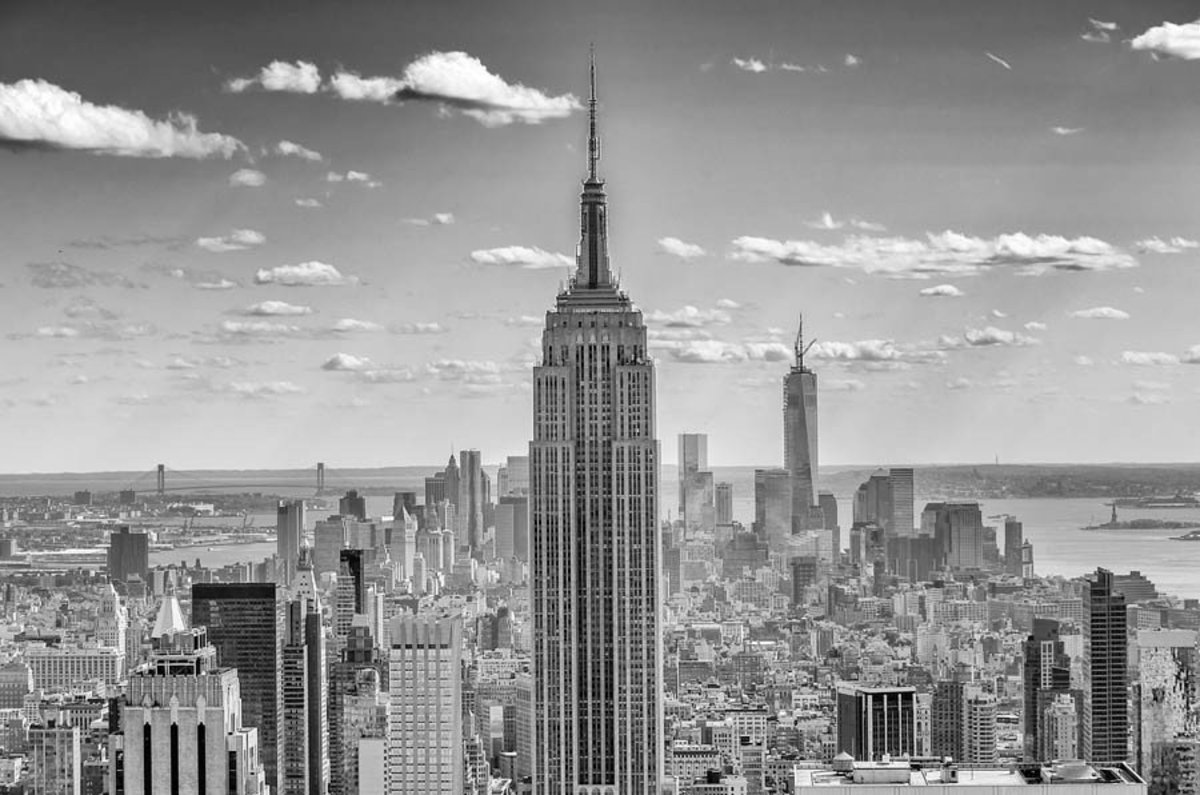 New York Seen From the Rocks Observation Deck (Close Up) Mural Wallpaper