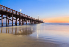 Newport Beach Pier After Sunset  Wallpaper Mural