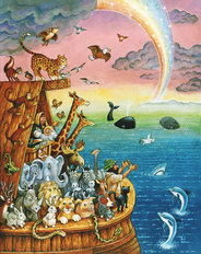 Noah And The Rainbow Wall Mural