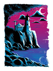North Shore Split Rock Lighthouse Wall Mural