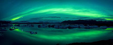 Northern Lights Over Jokulsarlon Lagoon Wall Mural