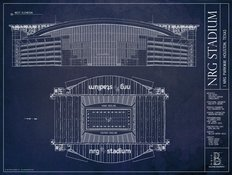 NRG Stadium Blueprint Wall Mural