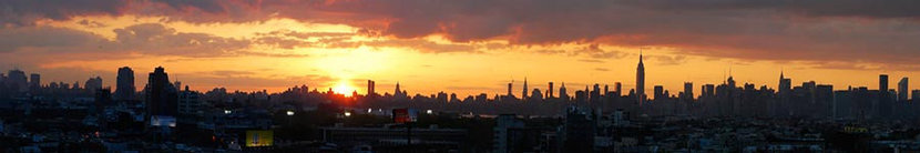 NY Sunset from Brooklyn Wall Mural