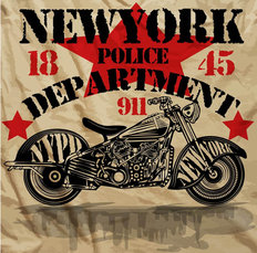 NYPD Motorcycle Wallpaper Mural