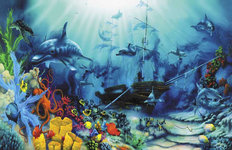 Ocean Treasures 2 Mural Wallpaper