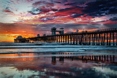 Oceanside Pier at Sunset Wall Mural