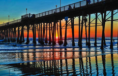 Oceanside Pier Mural Wallpaper