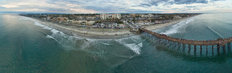 Oceanside Pier Panoramic Mural Wallpaper