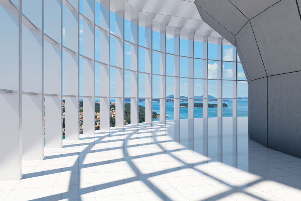 Office building with large panoramic sea views