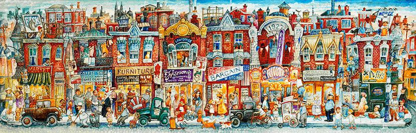 Oh, The Street Where I Lived Wallpaper Mural
