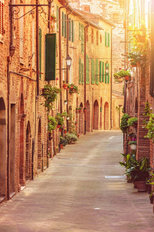 Old Street In Tuscany Wallpaper Mural