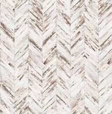 Old Painted Herringbone Wood Wall Mural