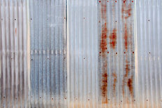 Old Rusty Zinc Fence Mural Wallpaper