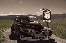 Olds On A Road Mural Wallpaper