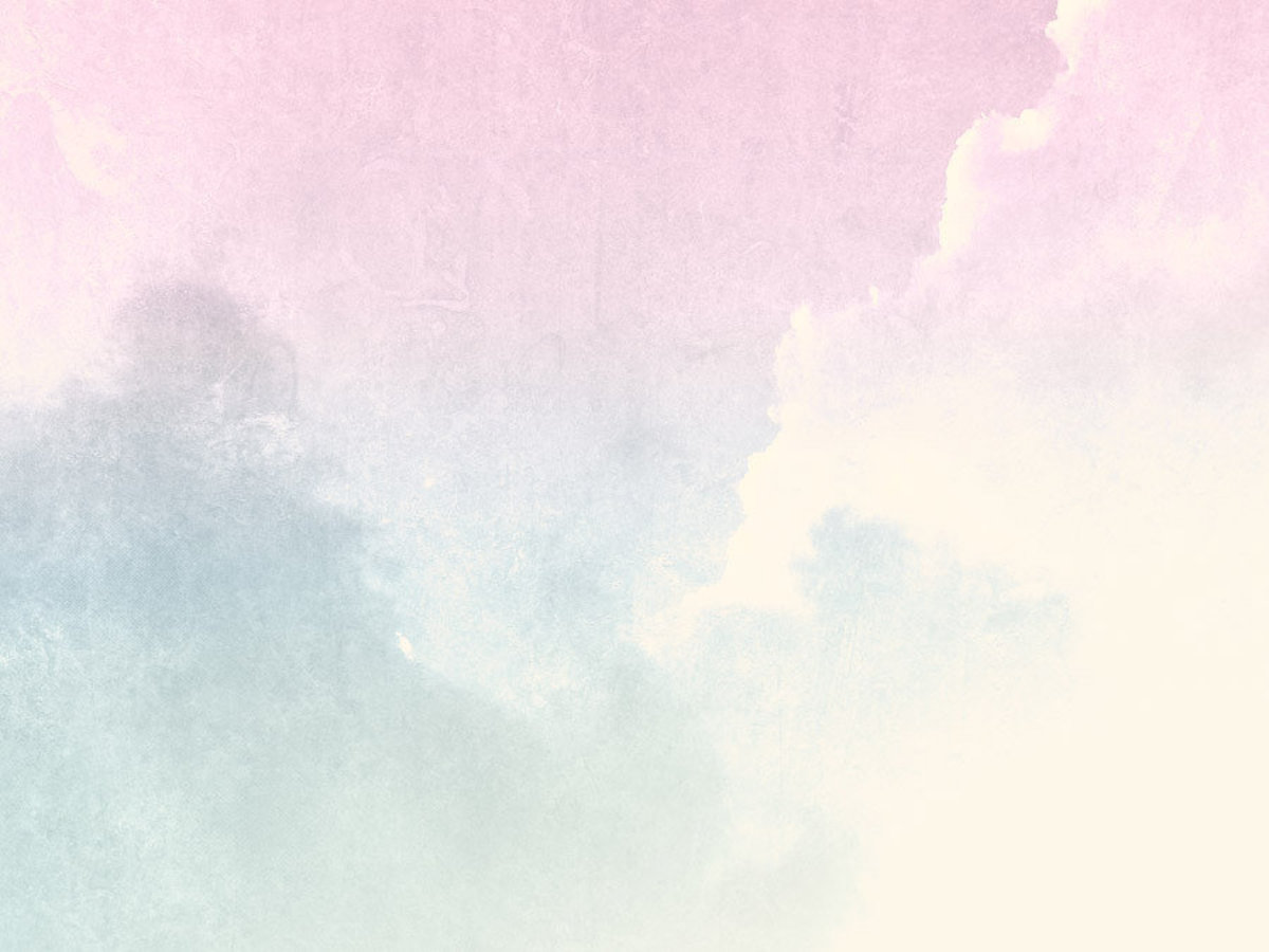 Ombre clouds in pastel colors