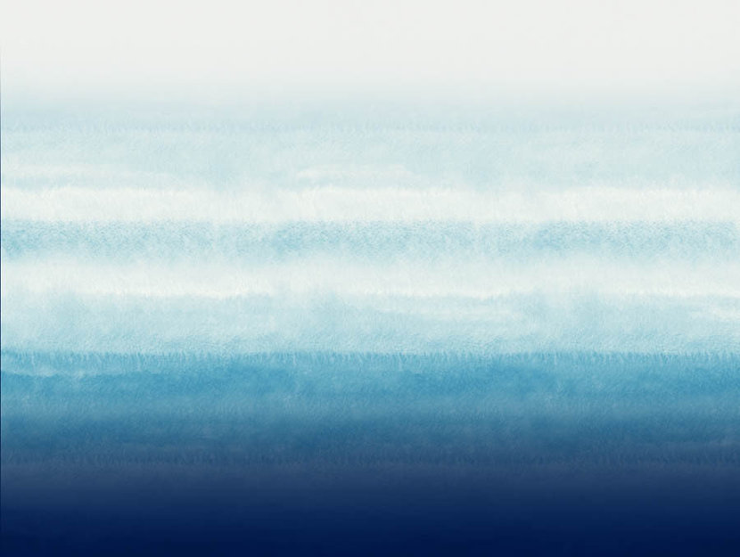 watercolor ombre background fading from blue to teal