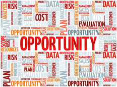 Opportunity and Success Word Cloud Wall Mural