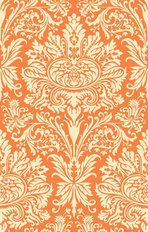 Orange Dream Damask Wallpaper