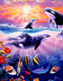 Orcas Mural Wallpaper