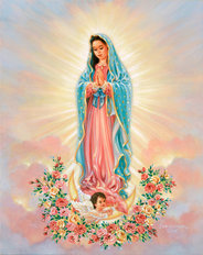 Our Lady Guadalupe Mural Wallpaper