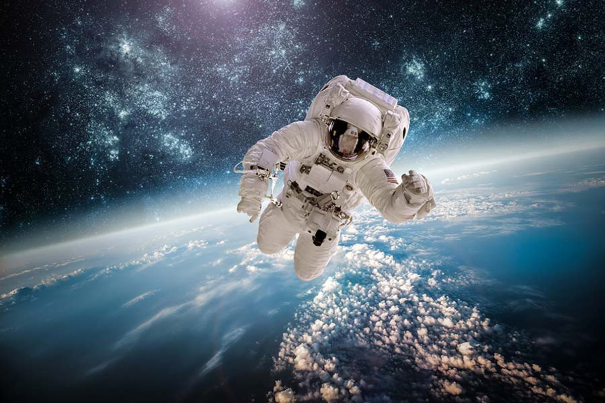 Outta This World Astronaut Wall Mural