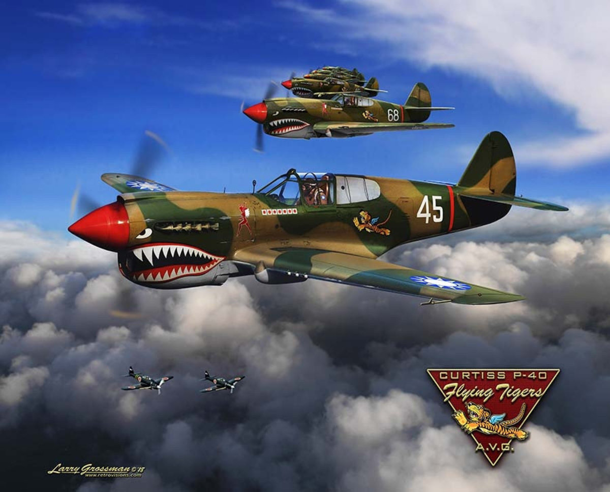 P-40 Flying Tigers Mural Wallpaper
