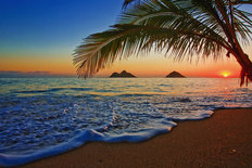 Sunrise At Lanikai Beach Wallpaper Mural
