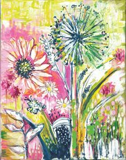 Painterly Blooms 2 Wall Mural