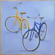 Pair Of Bikes Wall Mural