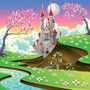 Enchanted Castle Illustration Mural Wallpaper