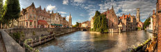 Panoramic View Of Bruges, Belgium Wall Mural
