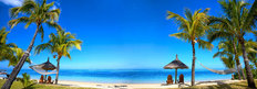 Panoramic View of Mauritius Beach Mural Wallpaper