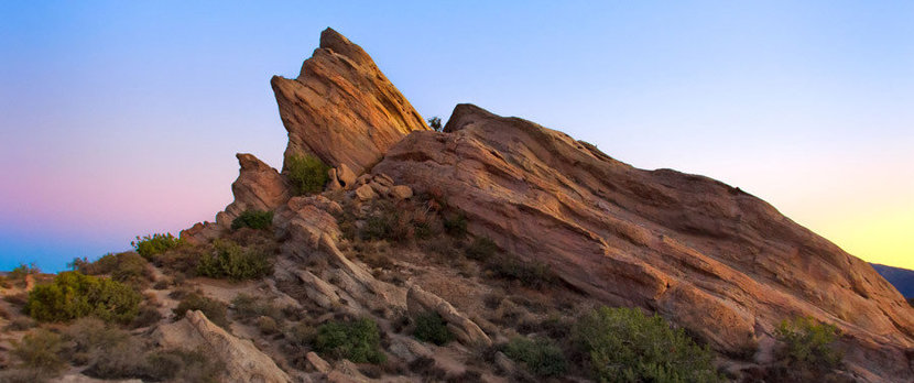 Vasquez Rocks at Sunset in Southern California