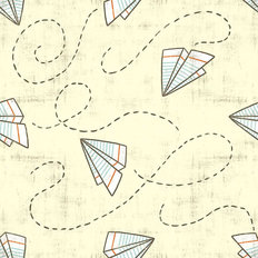 Paper Planes Pattern Wallpaper