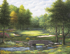 Par Five At The Bridge Wallpaper Mural
