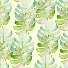 Paradiso Watercolor Leaf Pattern Wallpaper