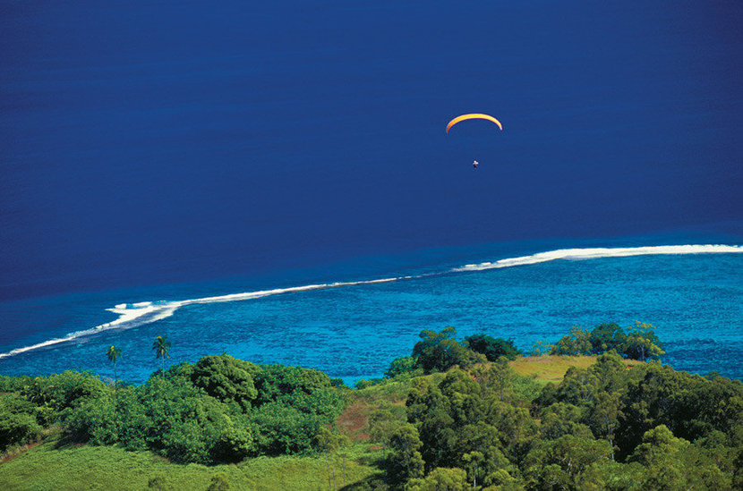 Paragliding, French Polynesia Wall Mural