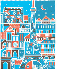 Paris Moonlight Wallpaper Mural