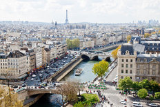 Paris Skyline From The Top of The Notre Dame Cathedral Wall Mural