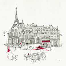 Paris Street Cafe Mural Wallpaper