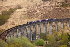 Passenger Train on Glenfinnan Viaduct Wallpaper Mural