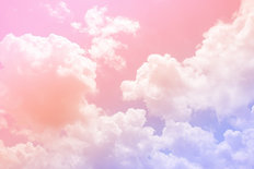 Pastel Dream Clouds Wall Mural