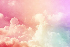 Pastel Rainbow Clouds Wallpaper Mural