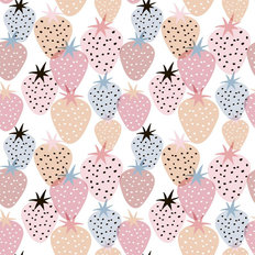 Strawberry Pastel Pattern Wallpaper