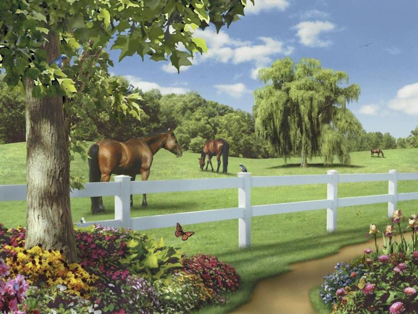 Pastures Of Chance Mural Wallpaper